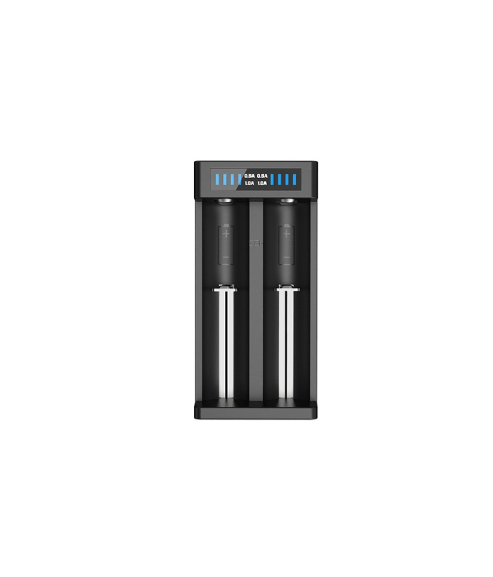 Set XTAR ANT MC2 Plus Ladegerät mit XTAR Netzstecker und 2x Samsung 18650 Li-Ion Akkus 3000 mAh