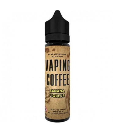 VoVan Vaping Coffee Bananen Liqueur Liquid 50 ml - Boosted Liquid Shake and Vape