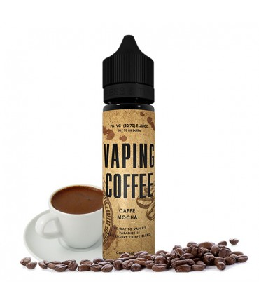 vovan Vaping Coffee Cafe Mocha Liquid 50 ml - Boosted Liquid Shake and Vape