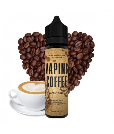 VoVan Vaping Coffee Cappuccino Liquid 50 ml - Boosted Liquid Shake and Vape