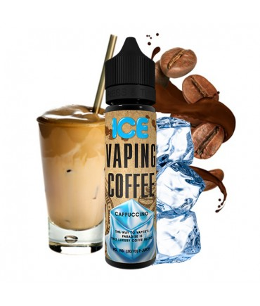 vovan Vaping Coffee Cappuccino Ice Liquid 50 ml - Boosted Liquid Shake and Vape