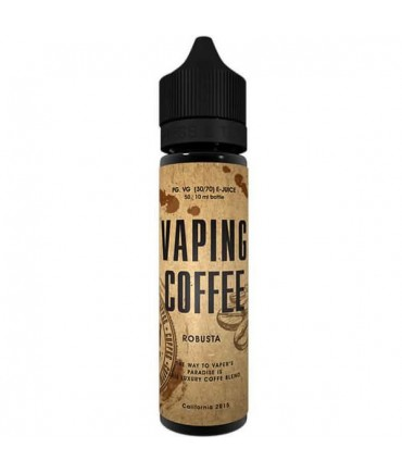VoVan Vaping Coffee Robusta Liquid 50 ml - Boosted Liquid Shake and Vape