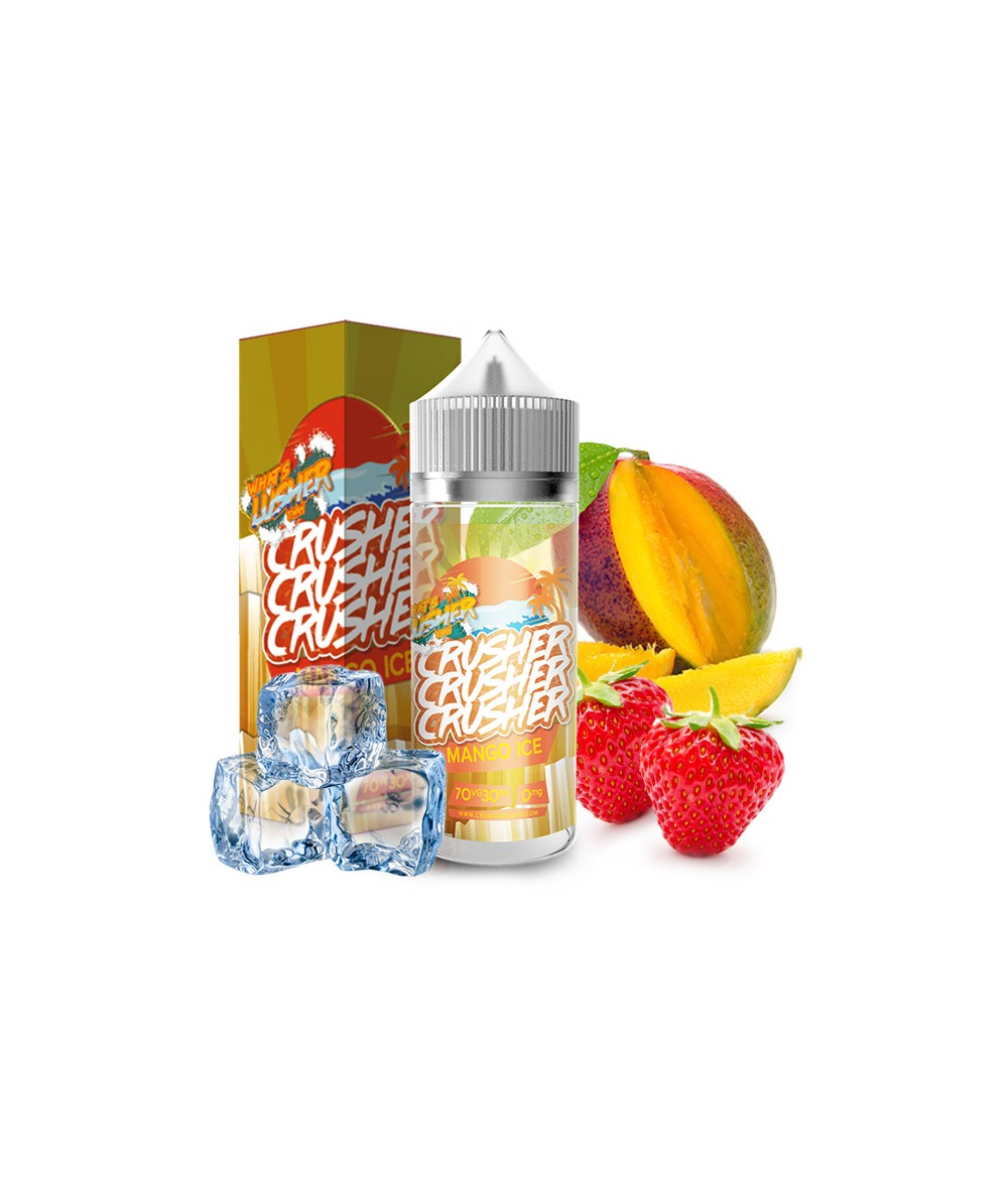 Crusher Mango Ice Premium Liquid 100 ml - Boosted Liquid Shake and Vape