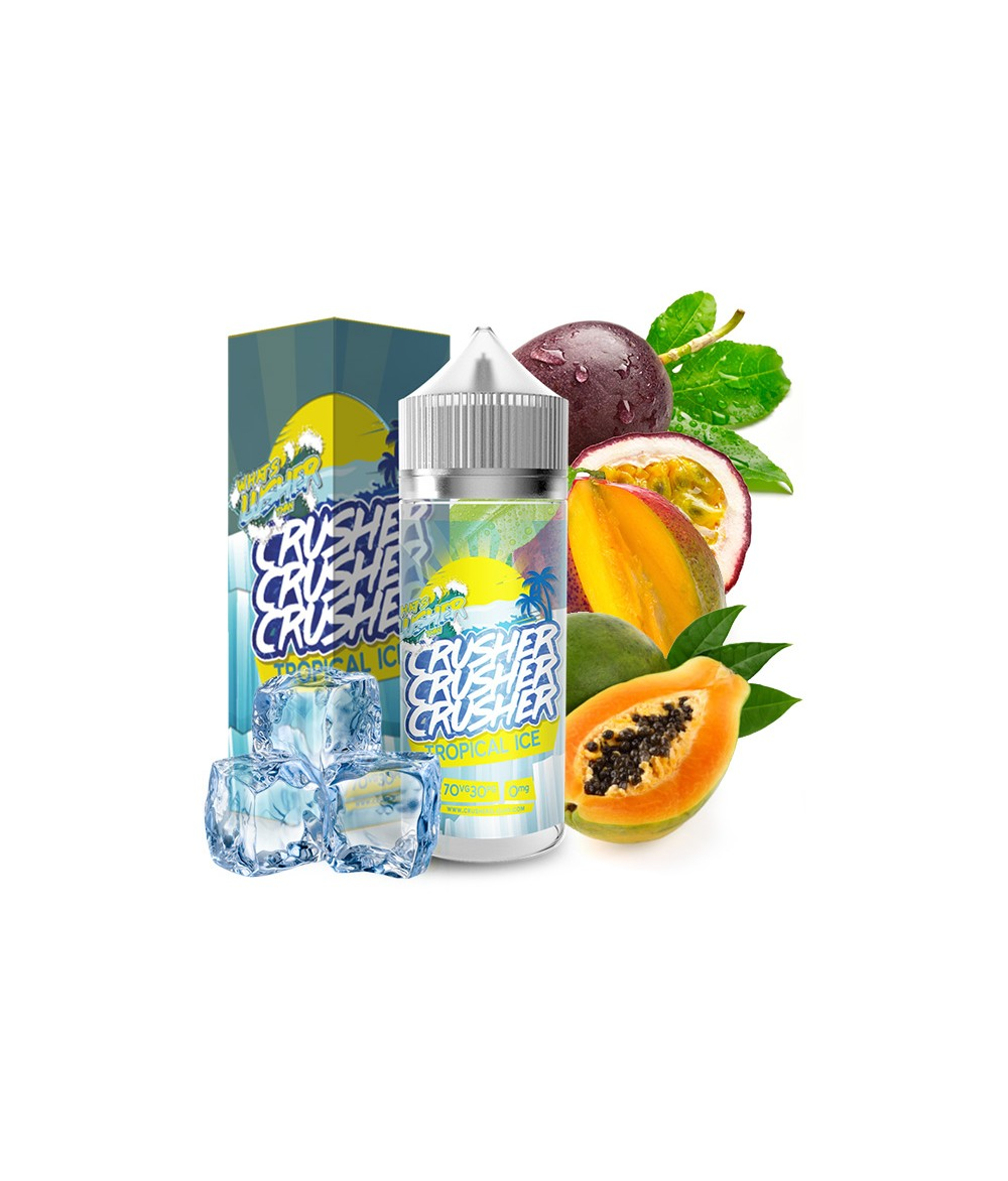 Crusher Tropical Ice Premium Liquid 100 ml - Boosted Liquid Shake and Vape