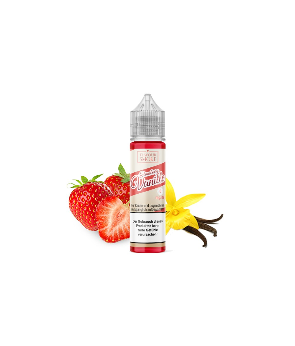 Flavour Smoke Strawberry Vanille Aroma 20ml in 60 ml Flasche Shake and Vape