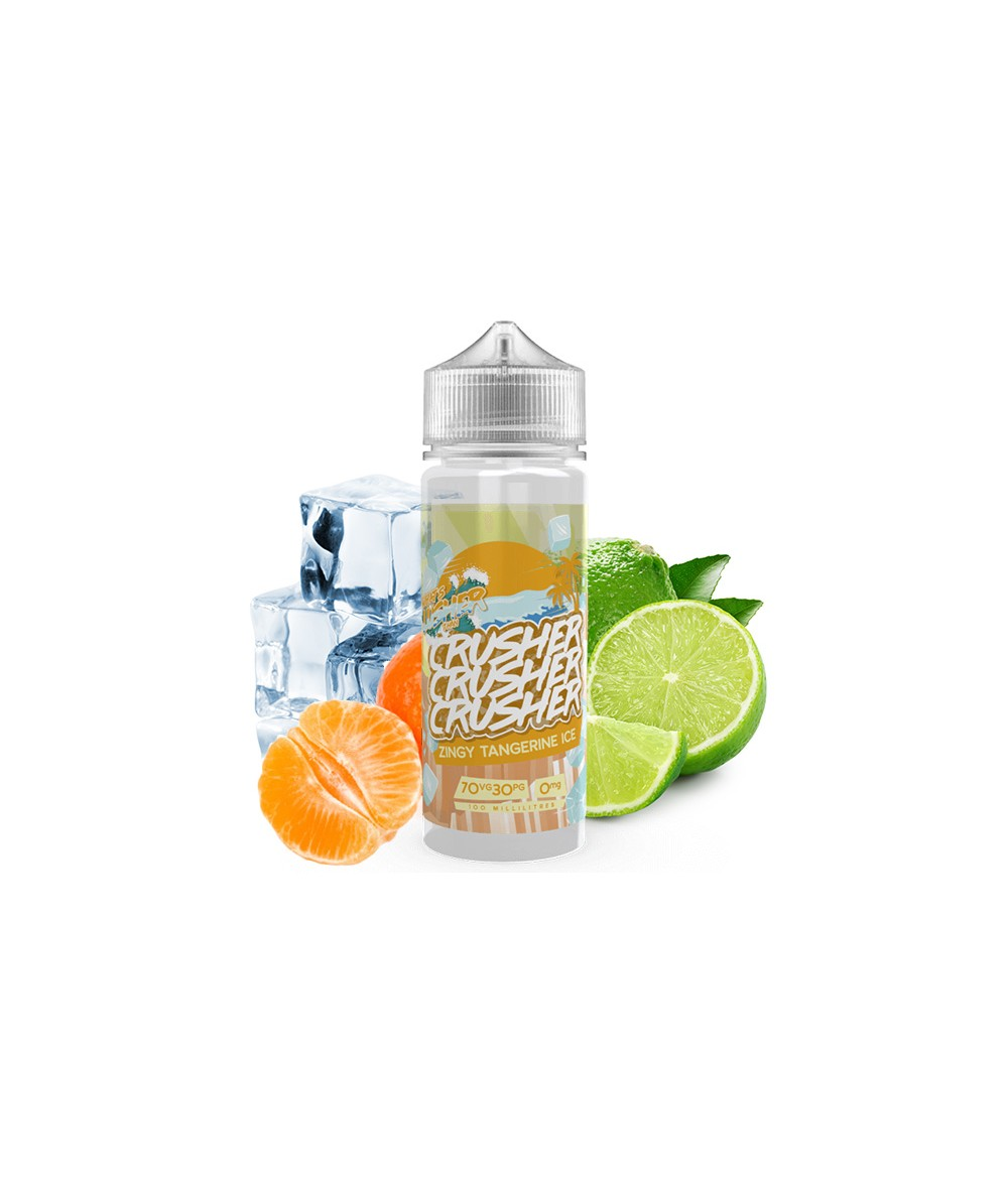 Crusher Zingy Tangerine Ice Premium Liquid 100 ml - Boosted Liquid Shake and Vape