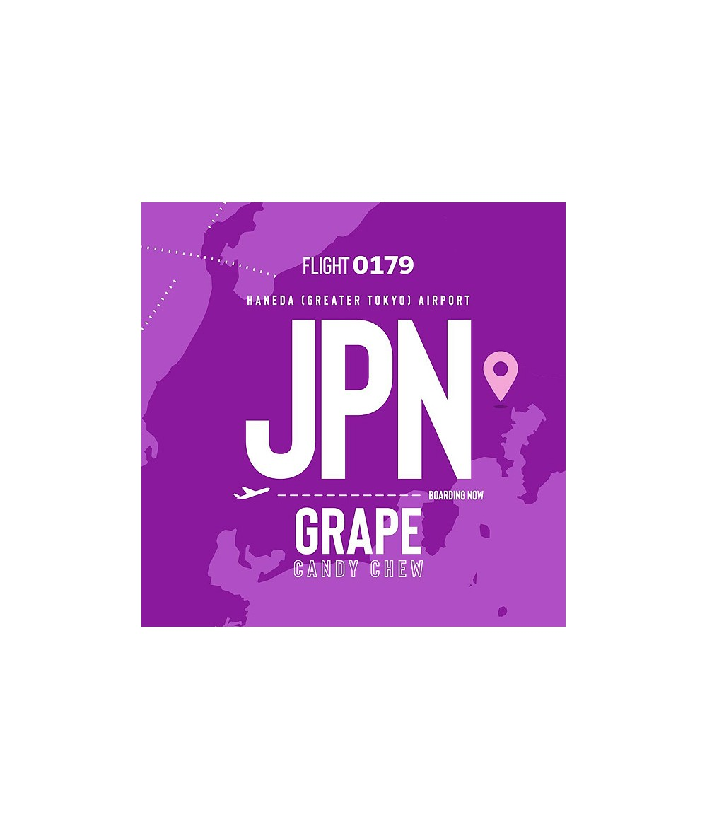 VAPE AIRWAYS JPN Grape Candy Chew UK Premium Liquid 50 ml - Boosted Liquid Shake and Vape