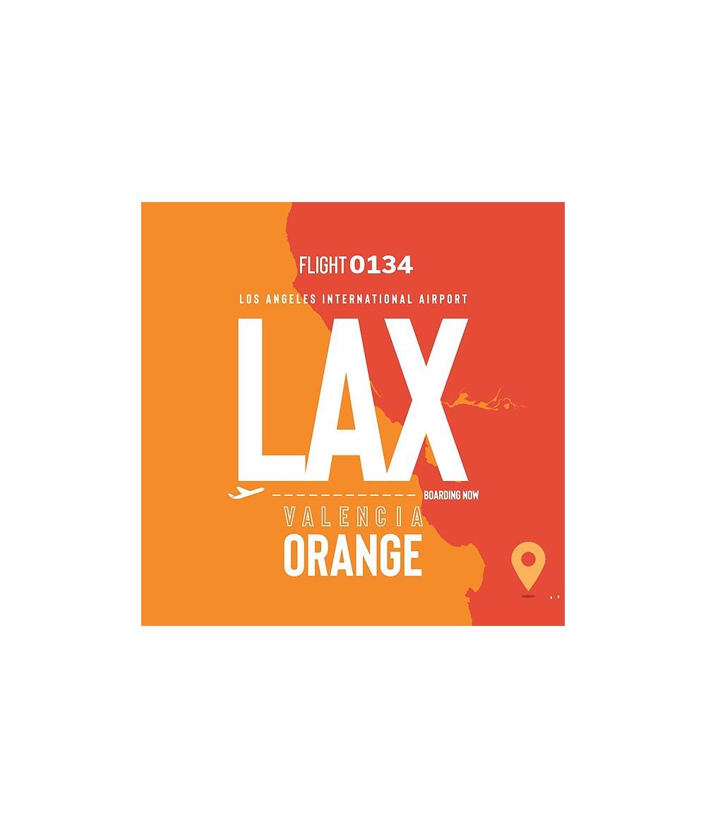 VAPE AIRWAYS LAX Valencia Orange UK Premium Liquid 50 ml - Boosted Liquid Shake and Vape