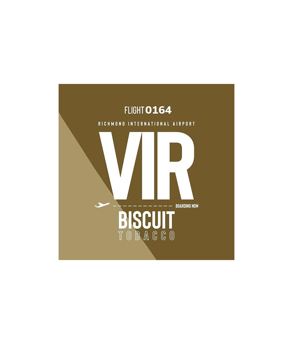 VAPE AIRWAYS VIR Biscuit Tobacco UK Premium Liquid 50 ml - Boosted Liquid Shake and Vape
