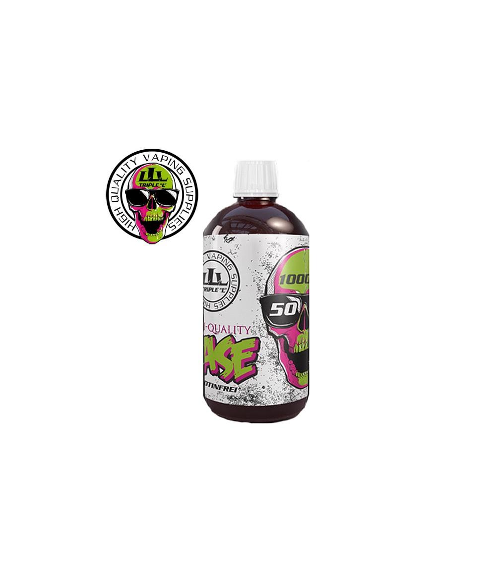 Triple L Base - 50 VG/50 PG - 1000 ml mit 0 mg zum mischen