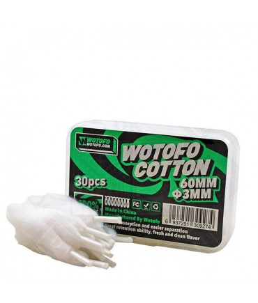 Wotofo Mesh Coil Organic Cotton Sticks in der Box - Wickelwatte Baumwollwatte