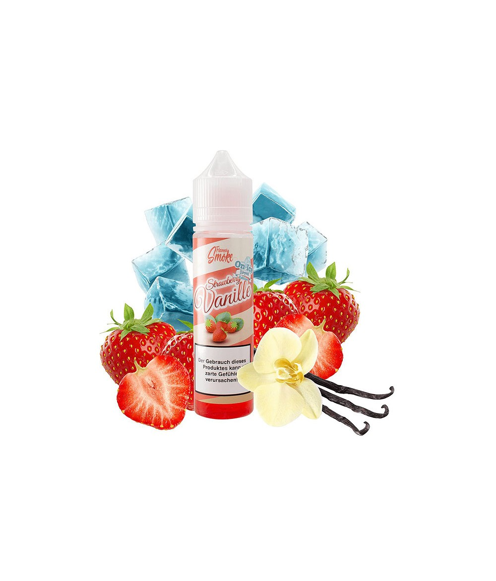 Flavour Smoke Strawberry Vanille Ice Aroma 20ml in 60 ml Flasche Shake and Vape