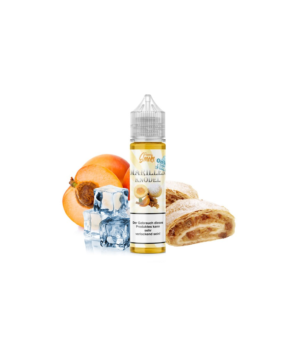 Flavour Smoke Marillenknödel Ice Aroma 20ml in 60 ml Flasche Shake and Vape