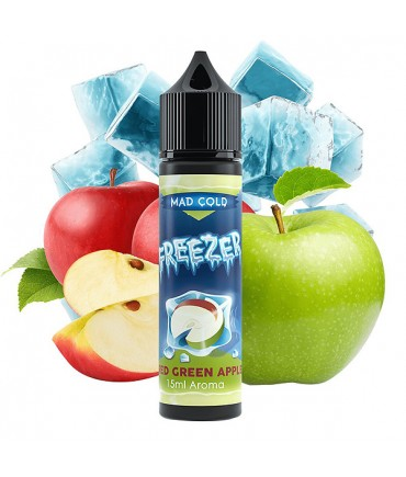 Freezer Red Green Apple Aroma 15 ml in 60 ml Flasche Shake and Vape