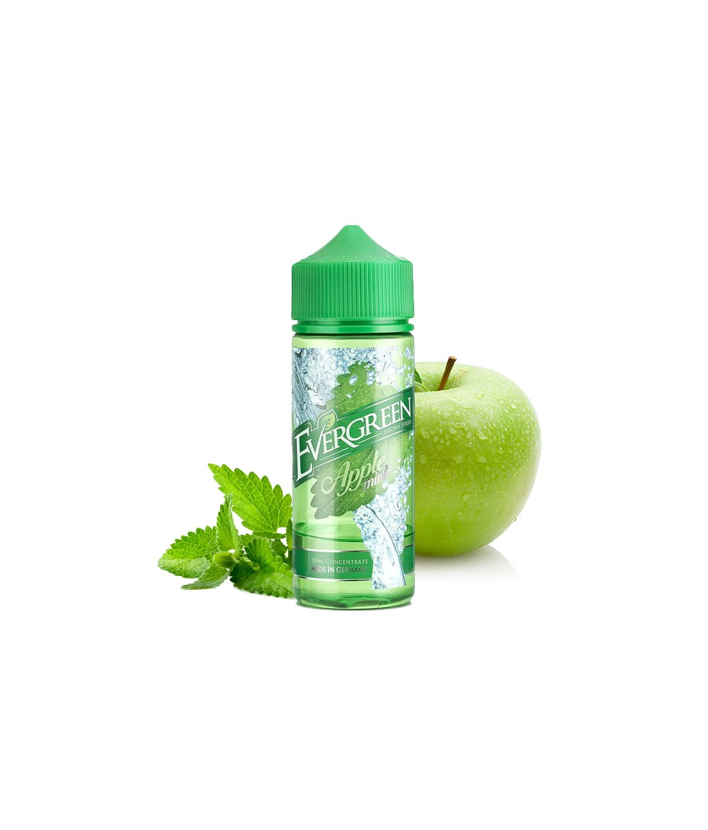 Evergreen Apple Mint Aroma 30 ml in 120 ml Flasche Shake and Vape