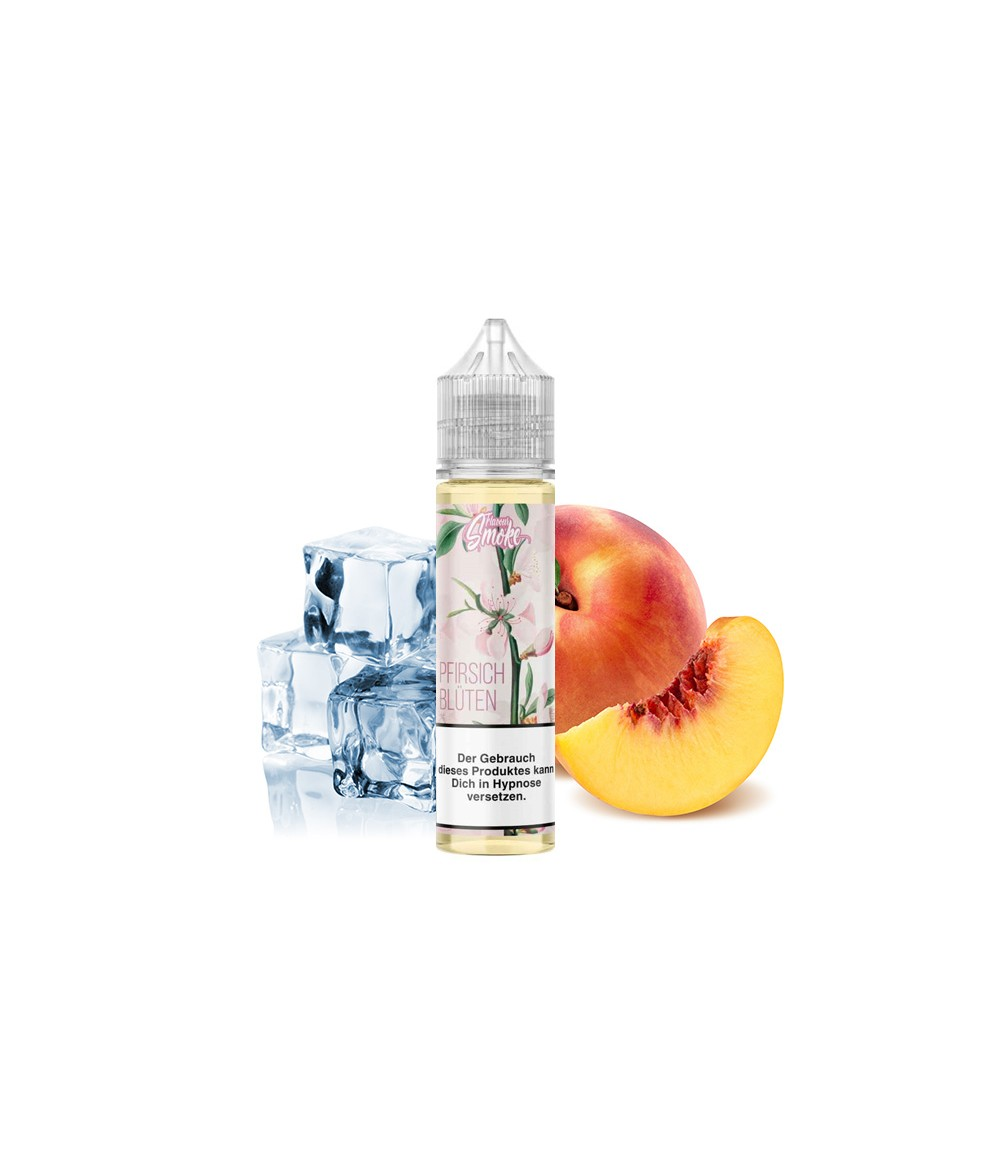 Flavour Smoke Pfirsich Blüte Ice Aroma 20ml in 60 ml Flasche Shake and Vape
