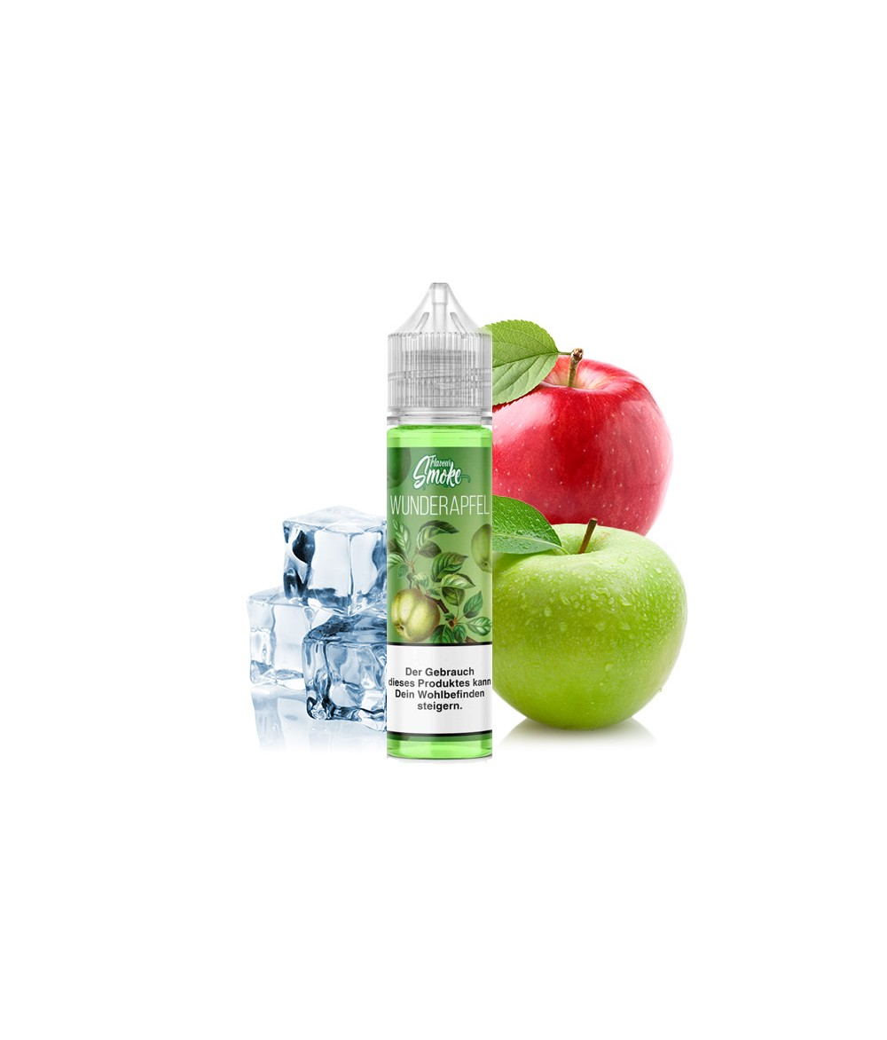 Flavour Smoke Wunderapfel Ice Aroma 20ml in 60 ml Flasche Shake and Vape