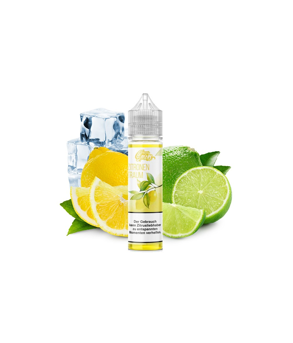 Flavour Smoke Zitronen Traum Ice Aroma 20ml in 60 ml Flasche Shake and Vape