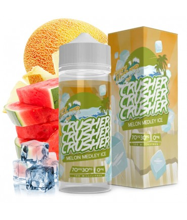 Crusher Melon Medley Ice Premium Liquid 100 ml - Boosted Liquid Shake and Vape