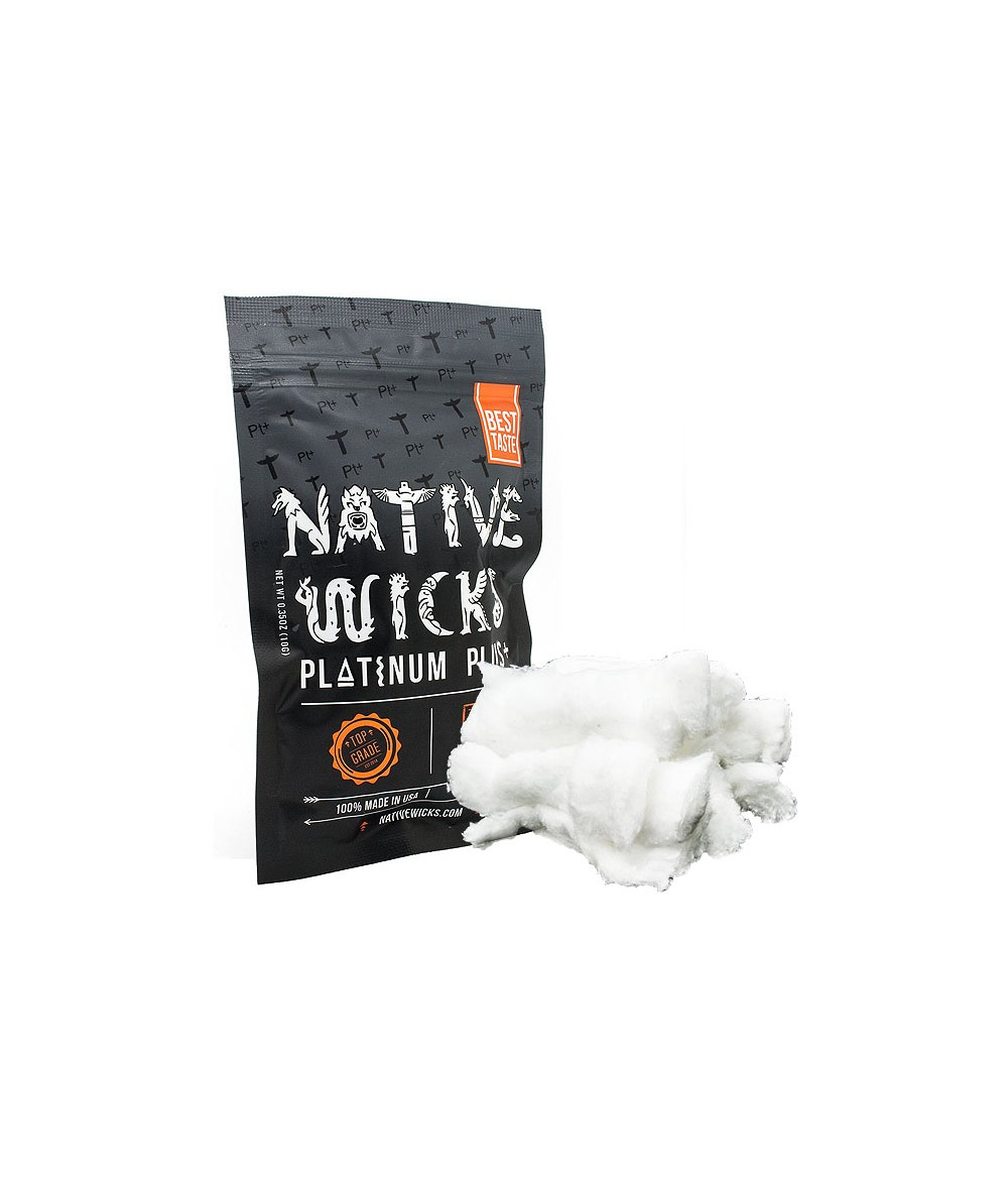 Native Wicks Platinum Plus Cotton - Wickelwatte - Baumwollwatte
