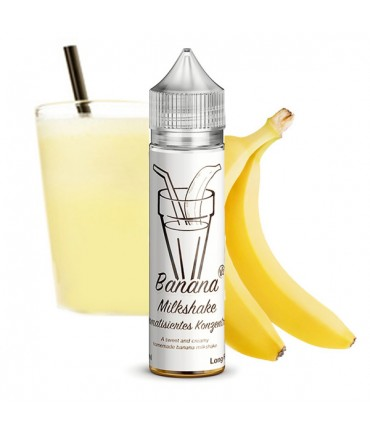 Milchshake by Eco Vape Banana Milkshake v2 Aroma 10ml in 60 ml Flasche Shake and Vape