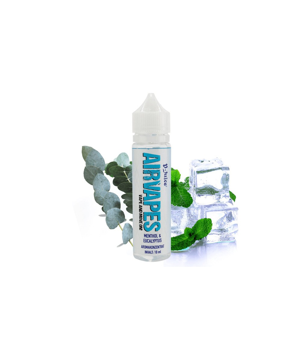 Airvapes by V-Juice Eucalyptus Aroma 10ml in 60 ml Flasche Shake and Vape