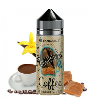Bang Juice Organic Coffee Premium Liquid 100 ml - Boosted Liquid Shake and Vape