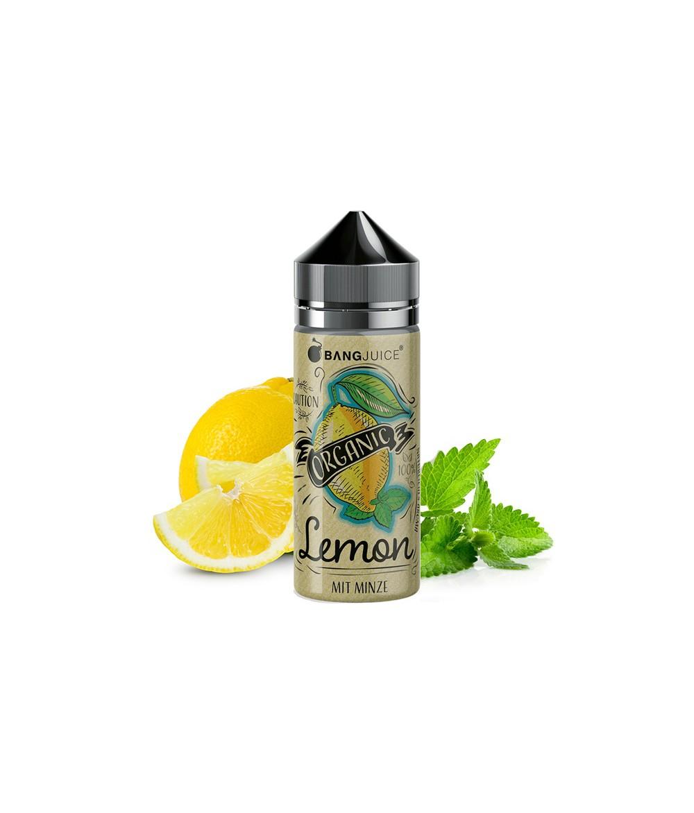 Bang Juice Organic Lemon Premium Liquid 100 ml - Boosted Liquid Shake and Vape