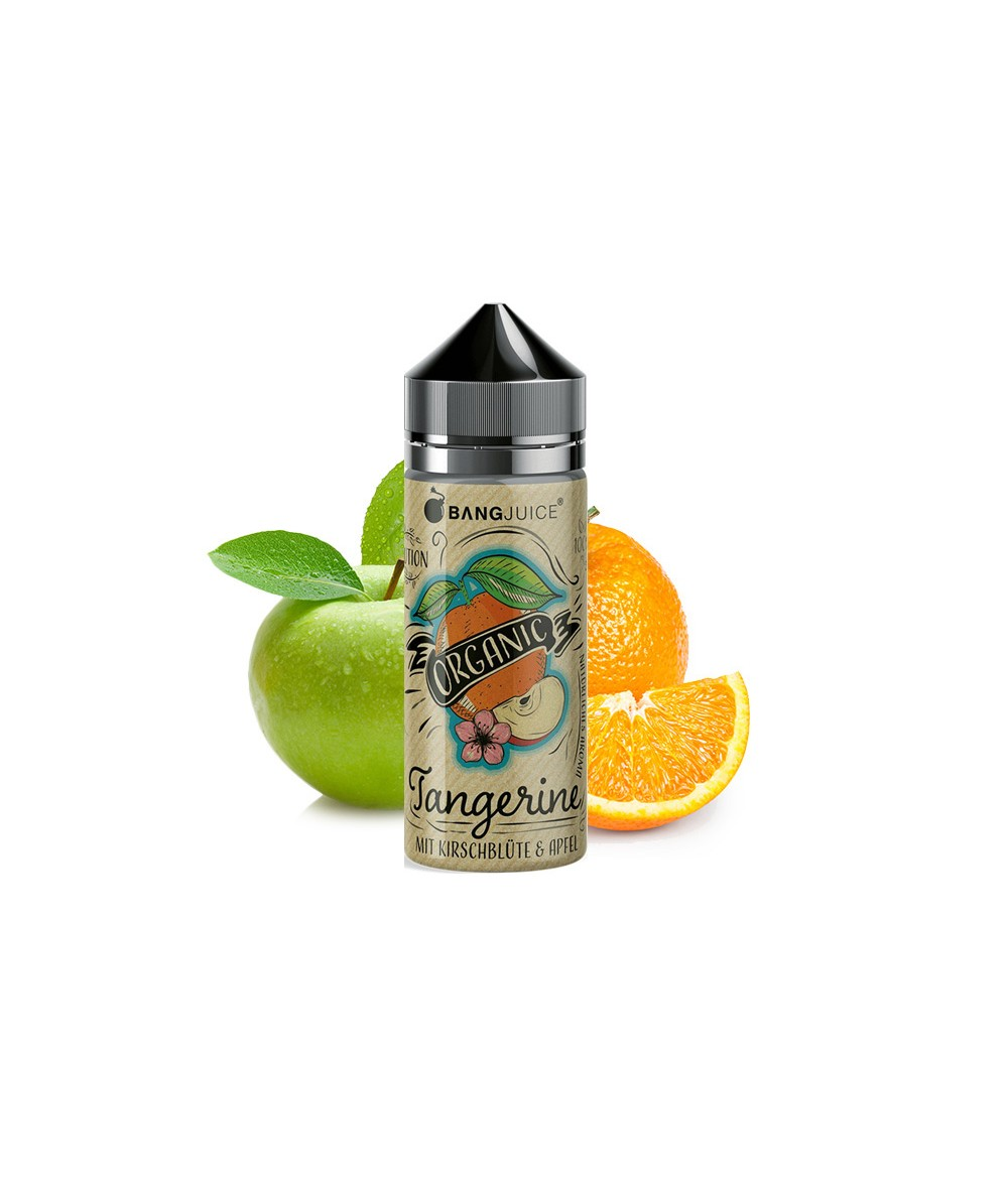 Bang Juice Organic Tangerine Premium Liquid 100 ml - Boosted Liquid Shake and Vape