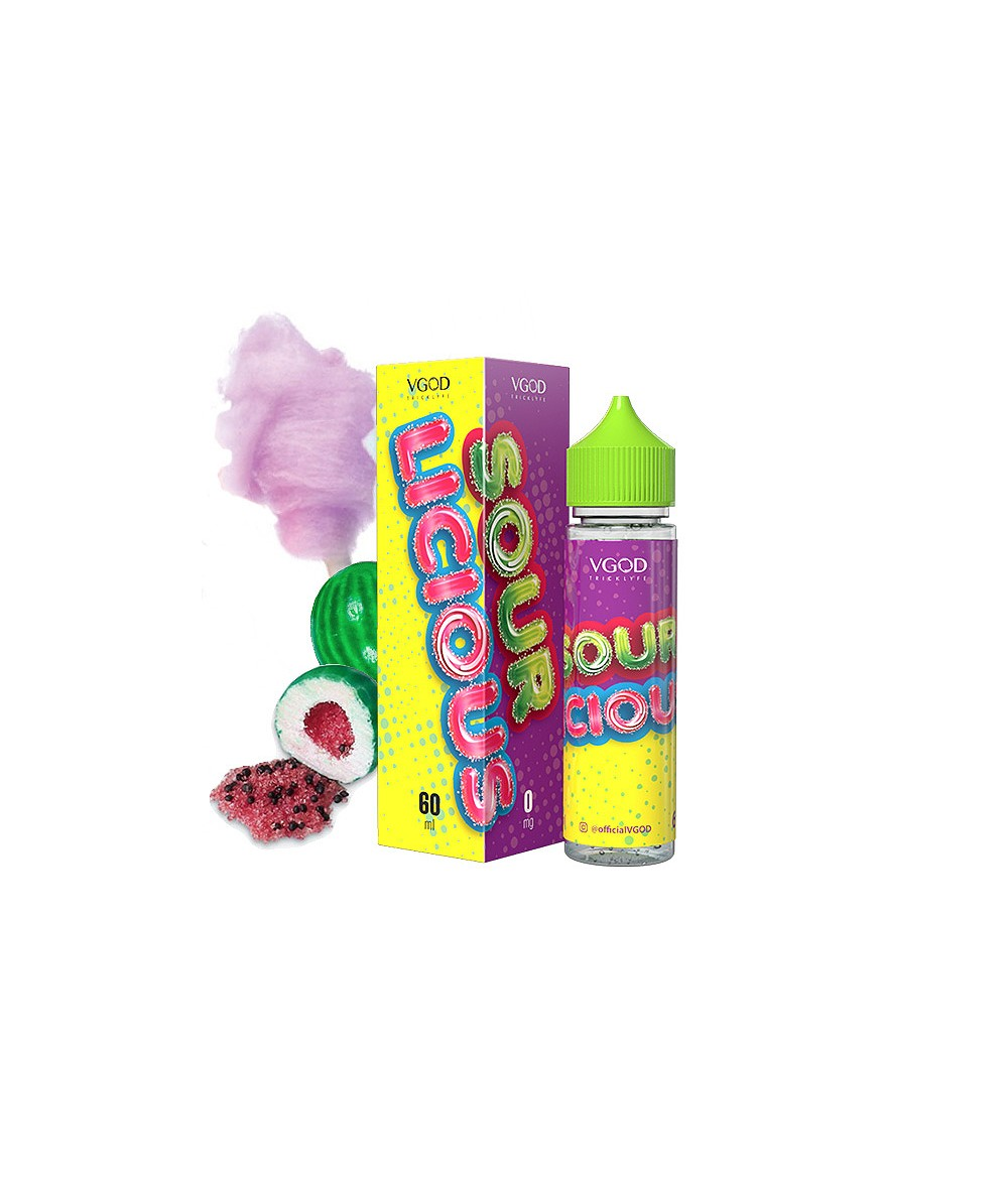 VGOD Sour Luscious US Premium Liquid 50 ml - Boosted Liquid Shake and Vape