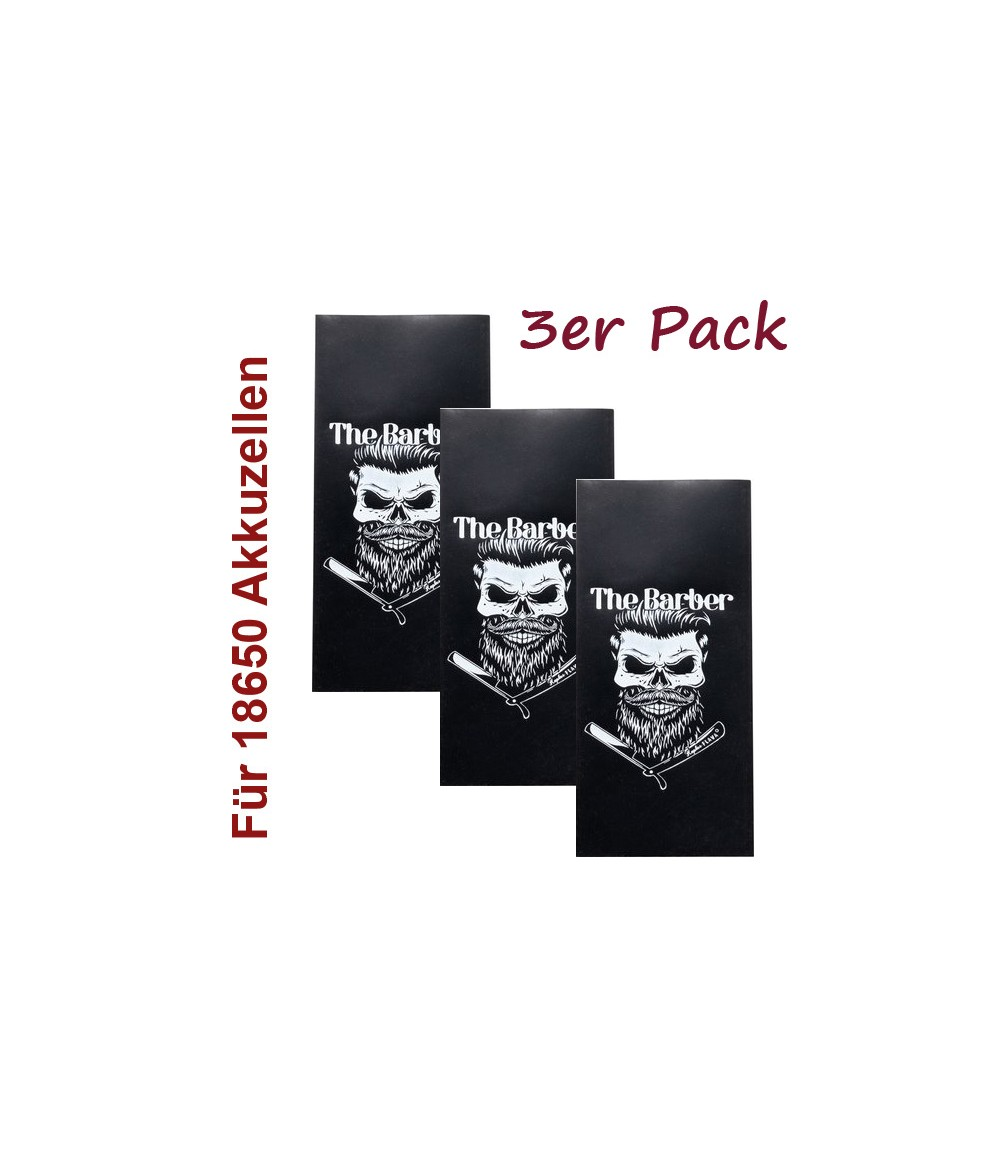 Kapkas Schrumpfschlauch Battery Wrap für 18650 Akkuzellen 3er Pack