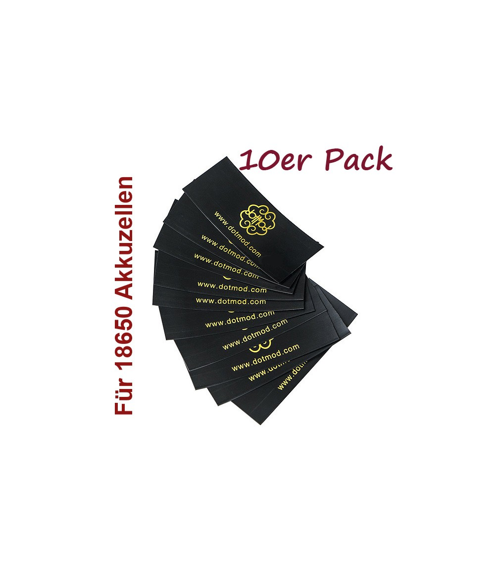 DotMod Schrumpfschlauch Battery Wrap für 18650 Akkuzellen 10er Pack
