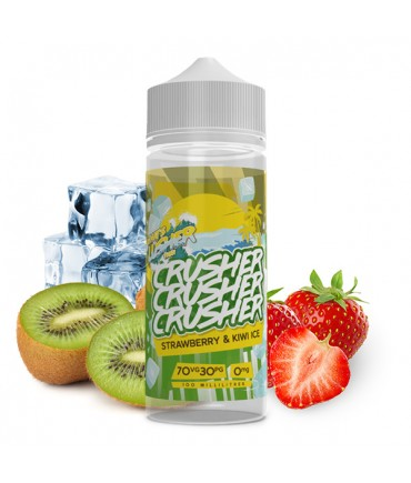 Crusher Strawberry Kiwi Ice Premium Liquid 100 ml - Boosted Liquid Shake and Vape