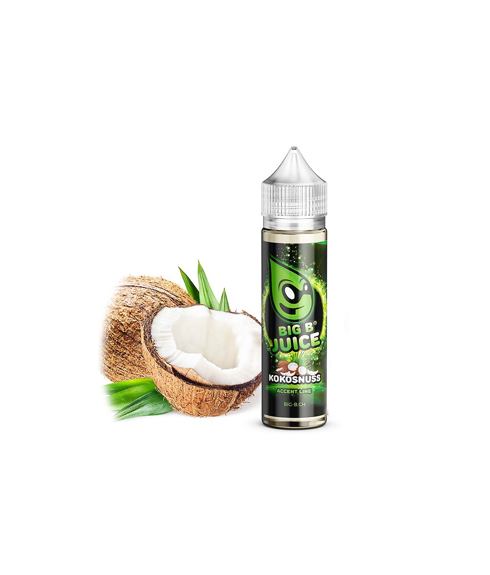 Big B Juice Accent Line Coconut Liquid 50ml in 60 ml Flasche Shortfill Shake and Vape