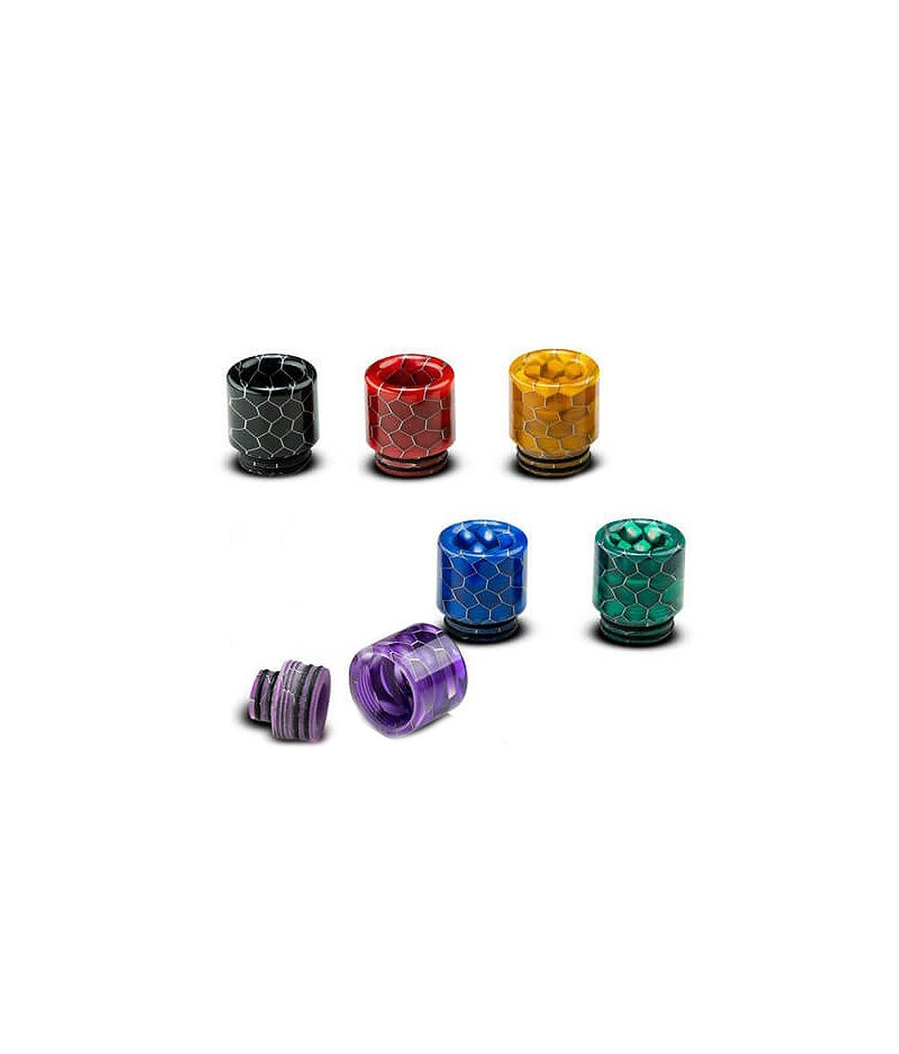 Universal 510 und 810 Drip Tip Resin Mundstück für Verdampfer im Waben Design