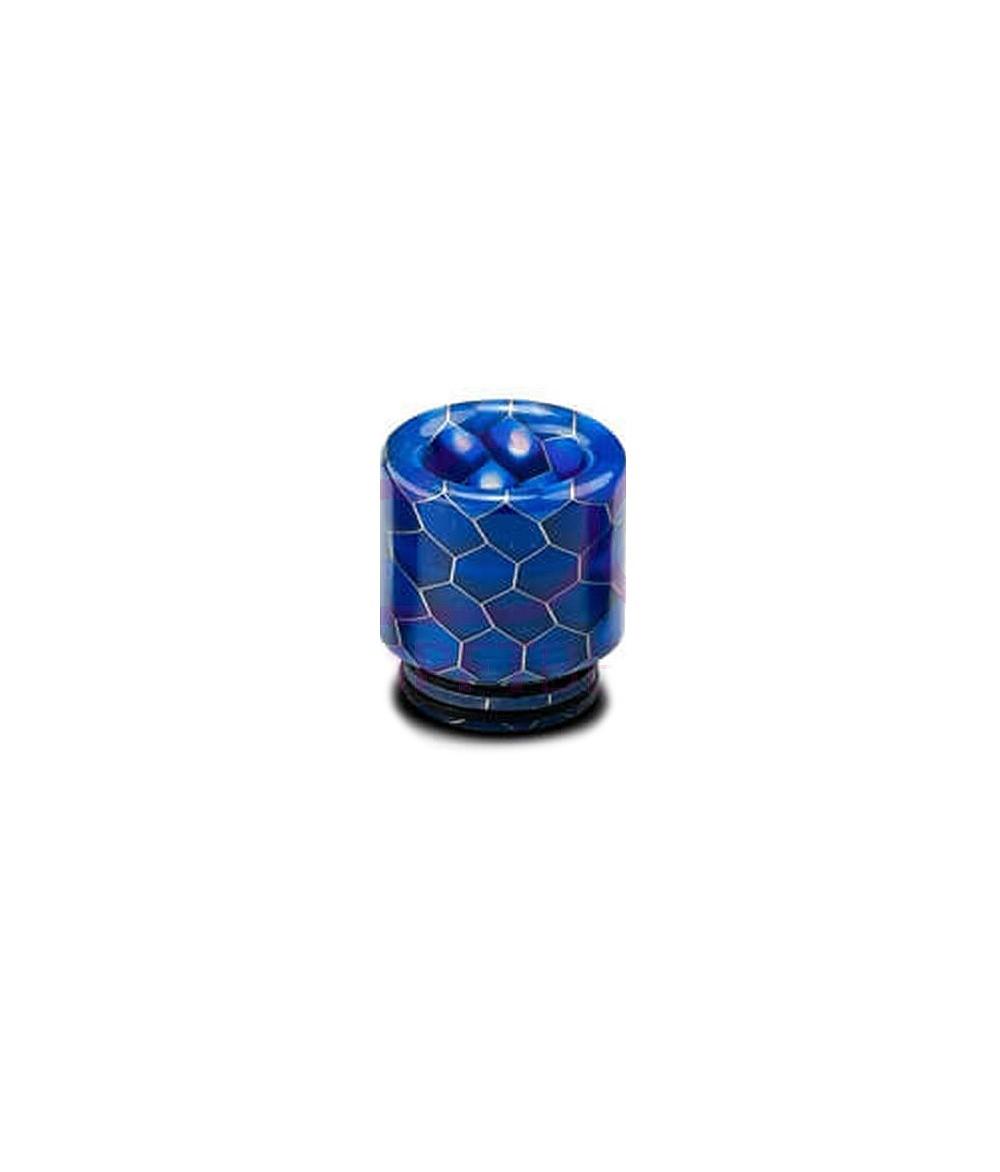Universal 510 und 810 Drip Tip Hybrid Resin Mundstück für Verdampfer im Waben Design - blau