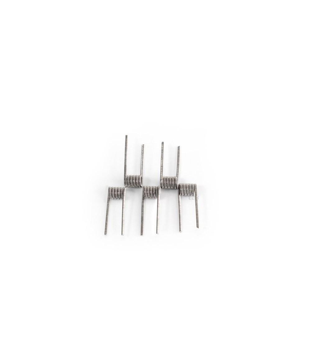 CoilArt 5 Stück Fused Clapton Coil 0.2 Ohm (2x 26G/38G Ni80) Prebuild Coil