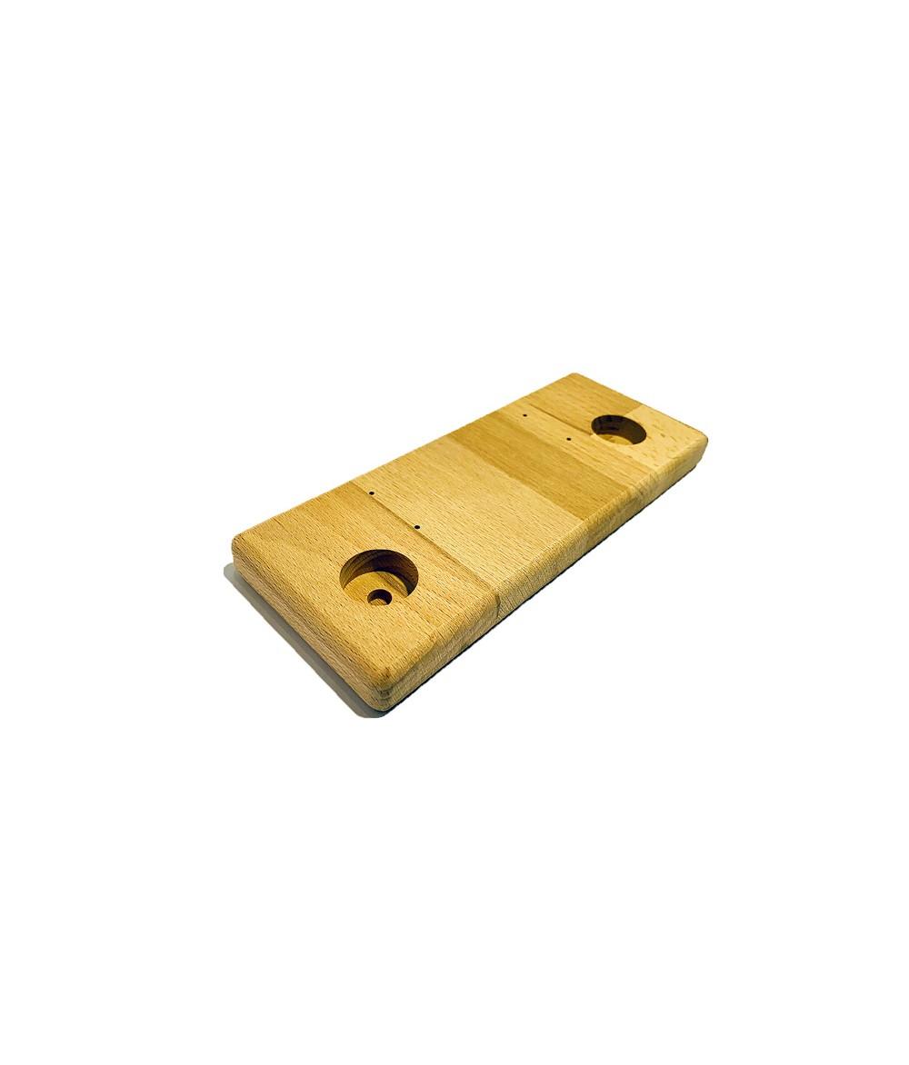 Aufsteller Ständer Holz klein 2 Loch für Verdampfer Akkuzellen