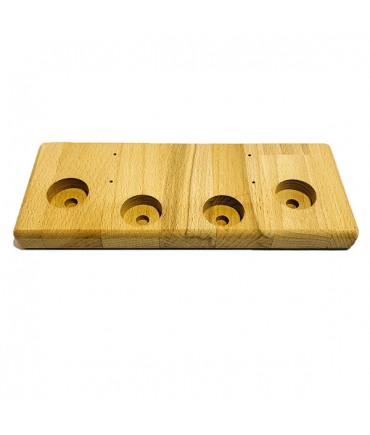 Catch Get It Aufsteller Ständer Holz klein 4 Loch für Verdampfer Akkuzellen