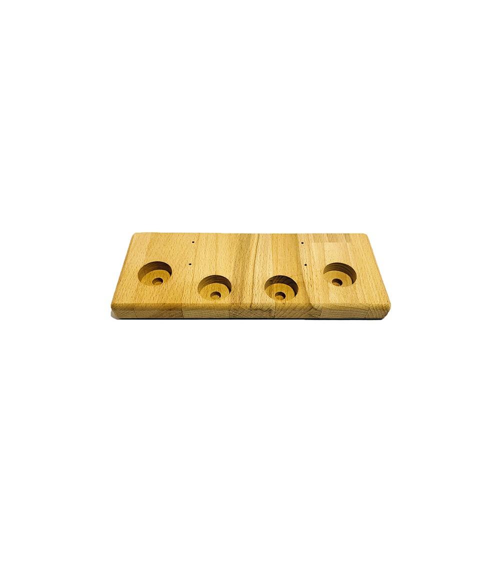 Aufsteller Ständer Holz klein 4 Loch für Verdampfer Akkuzellen