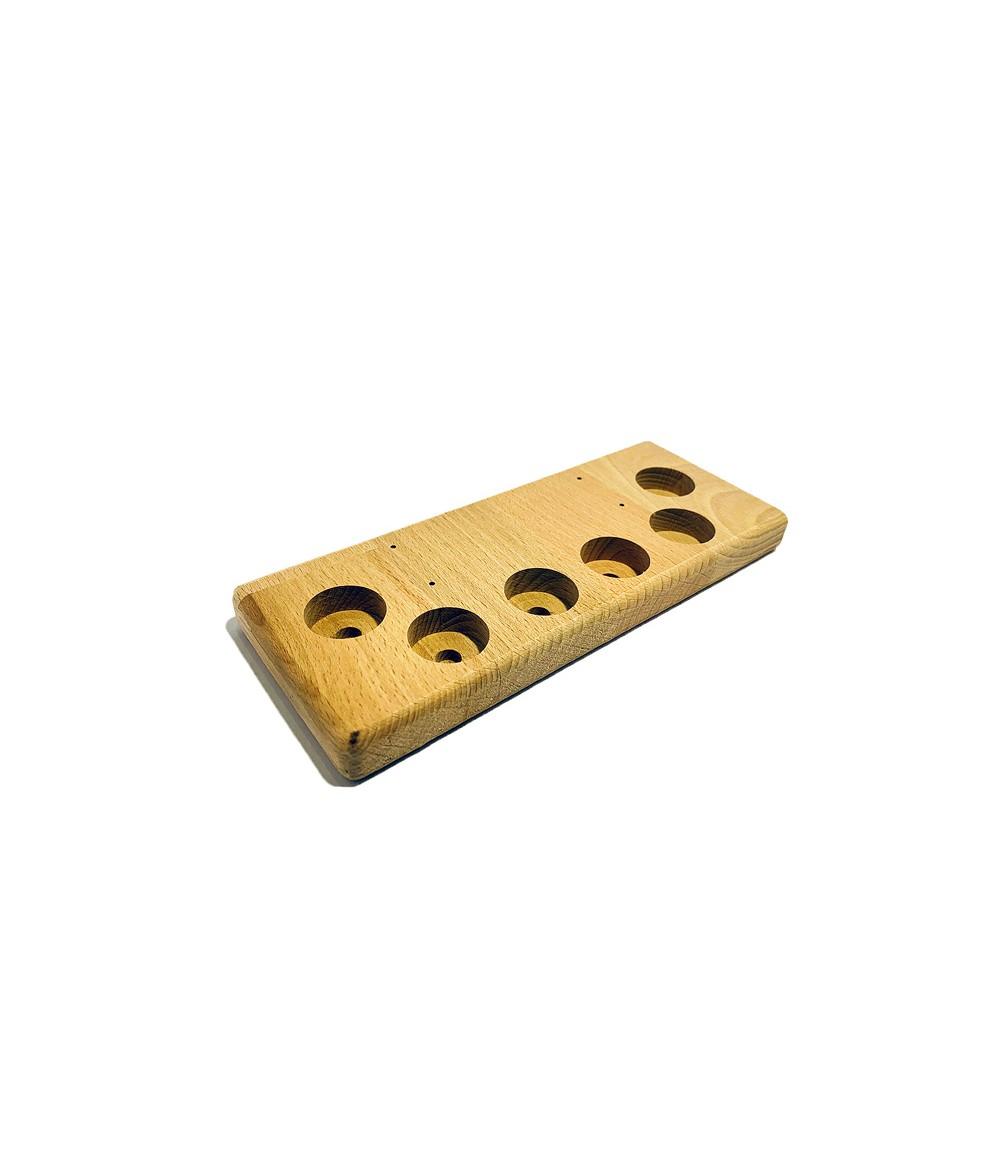 Aufsteller Ständer Holz klein 6 Loch für Verdampfer Akkuzellen