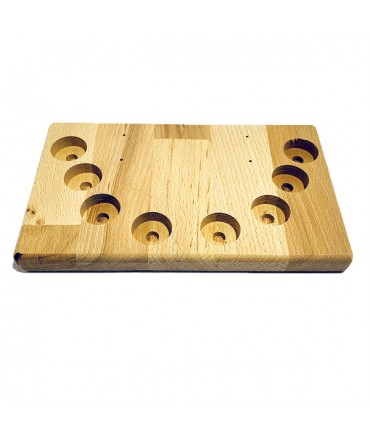 Aufsteller Ständer Holz groß 8 Loch für Verdampfer Akkuzellen