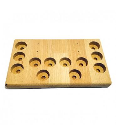 Aufsteller Ständer Holz groß 12 Loch für Verdampfer Akkuzellen