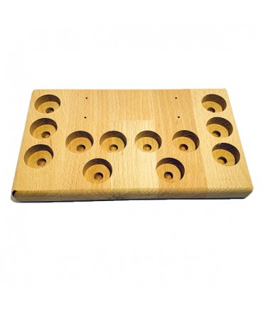 Stand stand wood large 12 holes for evaporator battery cells