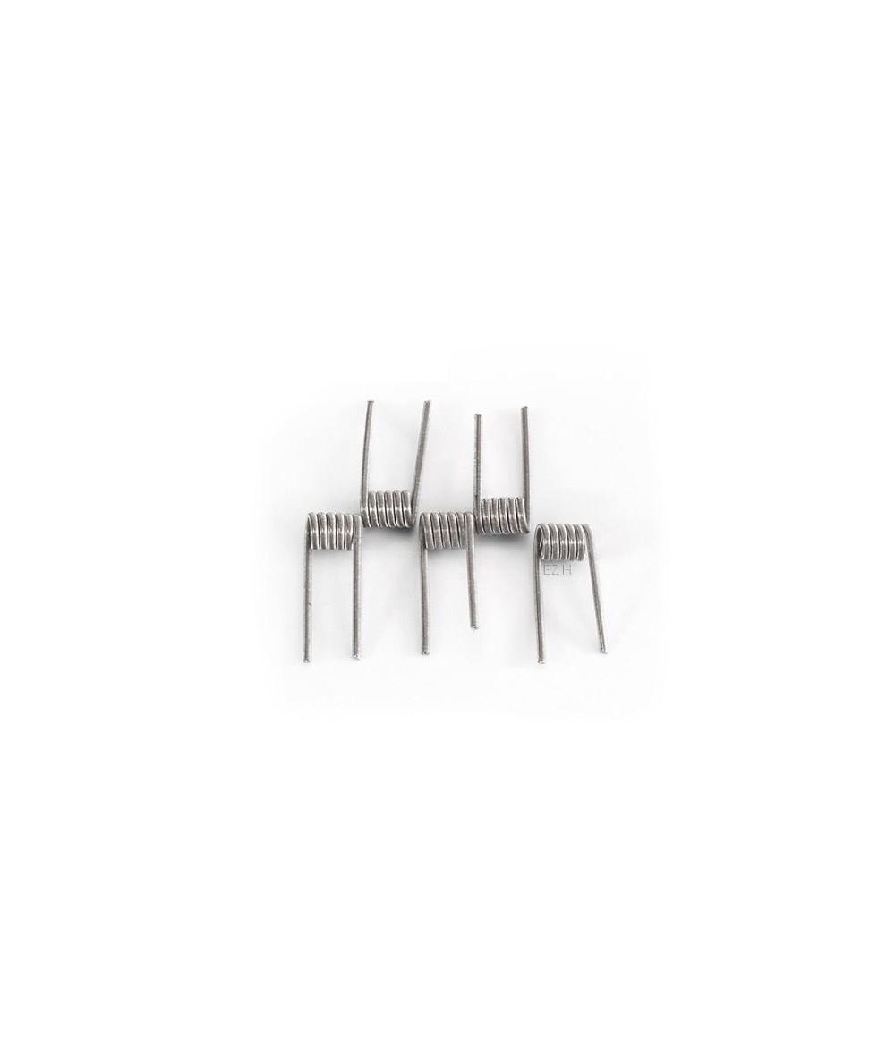 CoilArt 5 Stück Fused Clapton Coil 0.3 Ohm (2x 26G/40G Ni80) Prebuild Coil