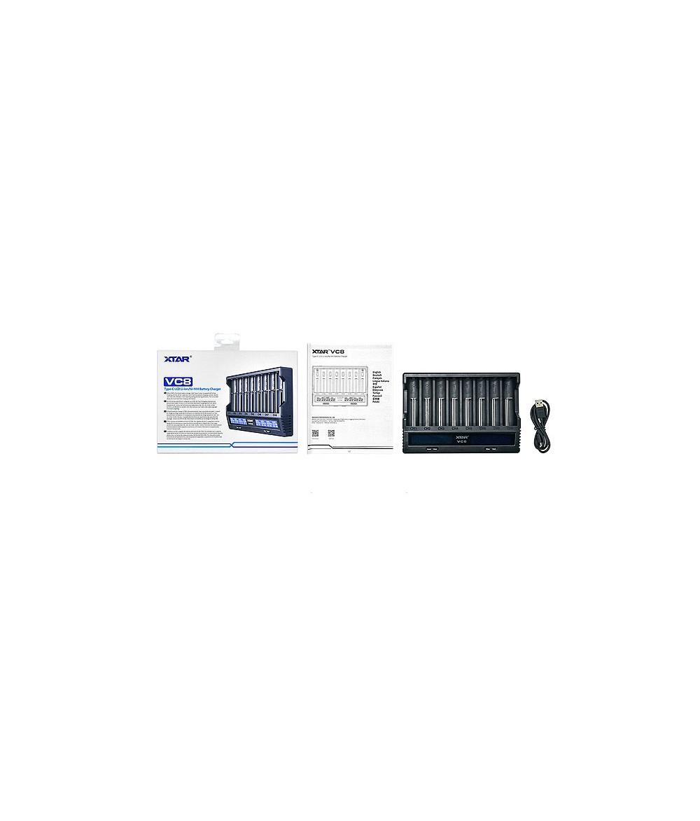 XTAR VC8 USB Ladegerät für bis zu 8 Akkus