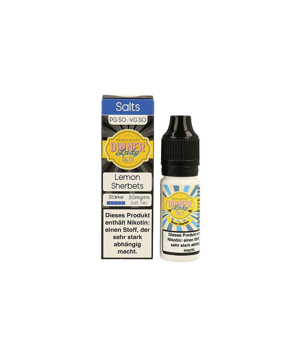 Dinner Lady Lemon Sherbets Nikotinsalz Premium Liquid 10 ml - NicSalt 20 mg/ml