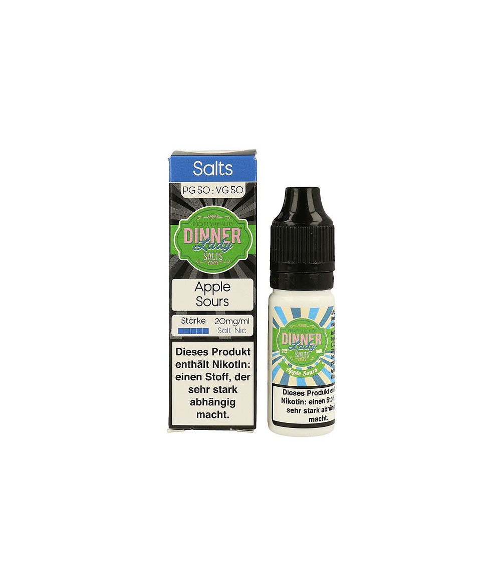 Dinner Lady Apple Sour Nikotinsalz Premium Liquid 10 ml - NicSalt 20 mg/ml