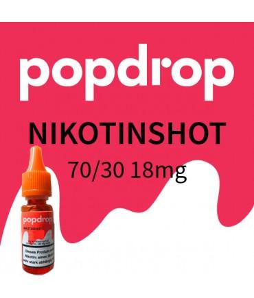 Popdrop Nicotine shot 70 VG/30 PG with 18mg nicotine