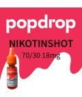 Popdrop Nikotinshot 70VG/30PG mit 18mg Nikotin